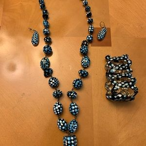 Jewelry - One of a kind, 3 piece hand painted jewelry set.